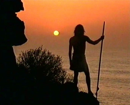 Guanche al atardecer