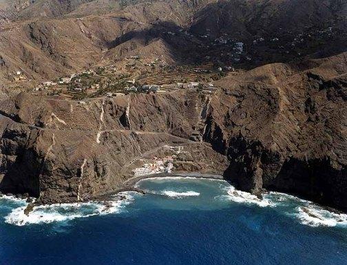 Playa de Alojera en Vallehermoso