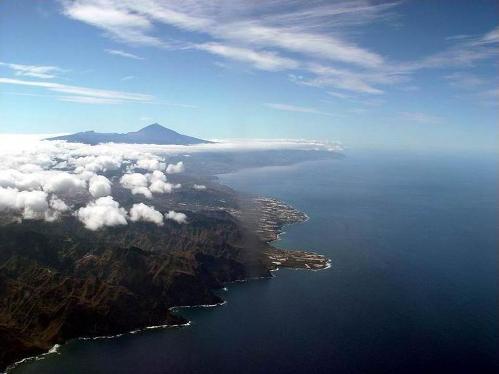 Vista del Teide desde el cielo