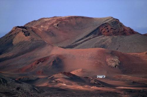 Zona de volcanes en Lanzarote