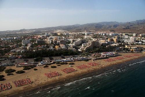 Playa del Ingles en Gran Canaria