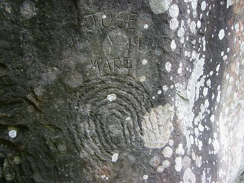 Petroglifos en la Palma