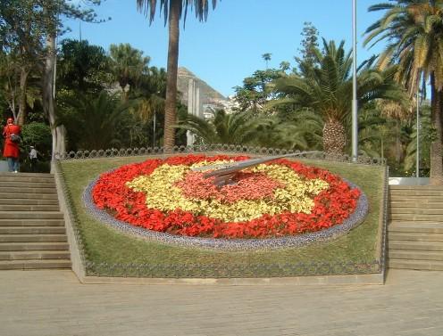 reloj de flores y de sol