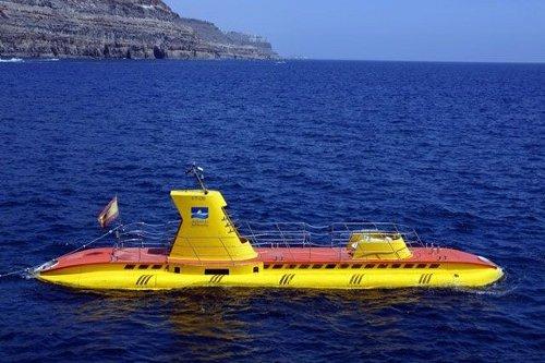Submarino amarillo en Gran Canaria