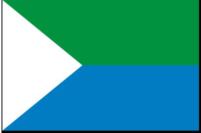 La bandera y el escudo de la isla de El Hierro