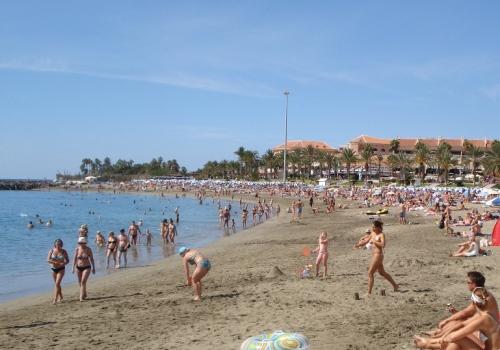 playa de las vistas en los Cristianos