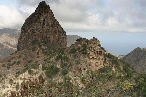 El Roque Cano en la Gomera