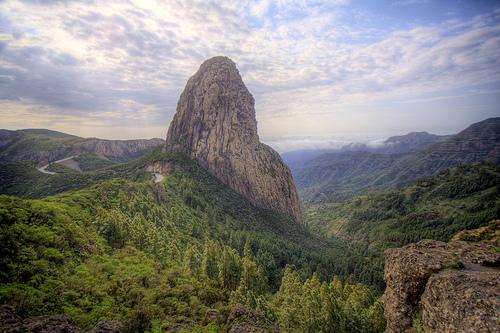El Roque de Agando en La Gomera