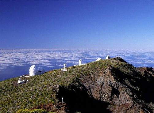 Vista de El Roque de los Muchachos
