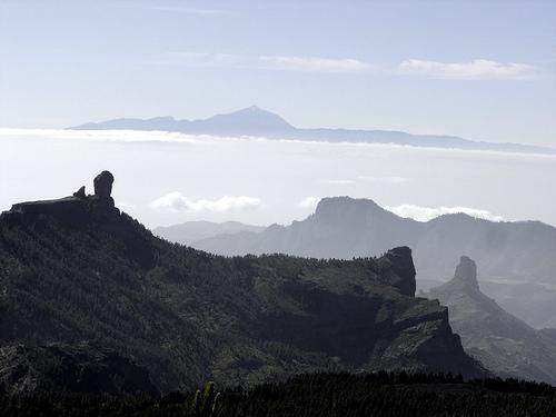 Roque Nublo, el Fraile y Roque Bentaiga
