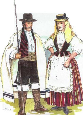 Ilustración de traje típico de Tenerife